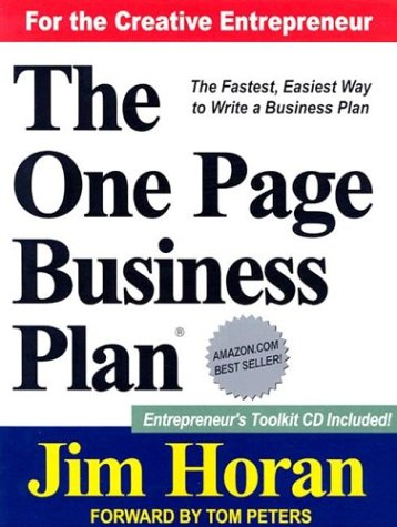 The One Page Business Plan: Start with a Vision, Build a Company! [With CDROM] 9781891315091