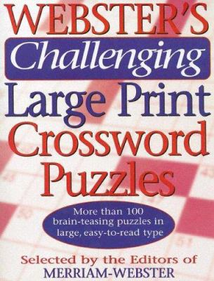 Webster's Challenging Large Print Crossword Puzzles 9781892859938