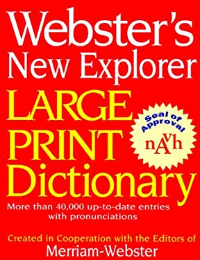 Webster's New Explorer Large Print Dictionary 9781892859167