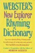 Webster's New Explorer Rhyming Dictionary 9781892859358