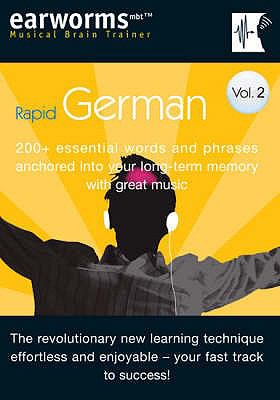 Rapid German: v. 2: 200+ Essential Words and Phrases Anchored into Your Long Term Memory with Great Music (Earworms) 9781905443123