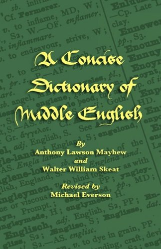 A Concise Dictionary of Middle English 9781904808237