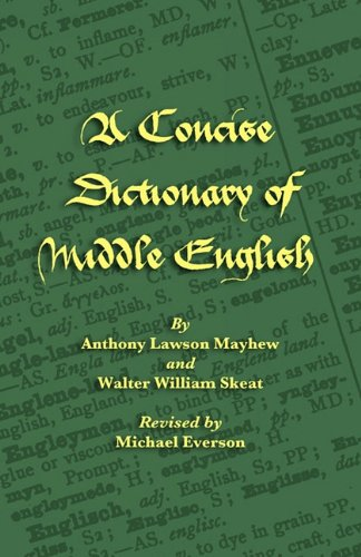A Concise Dictionary of Middle English 9781904808671