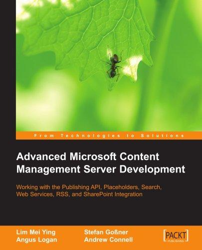Advanced Microsoft Content Management Server Development 9781904811534