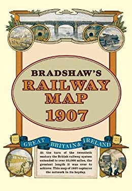 Bradshaw's Railway Folded Map 1907 9781908402134