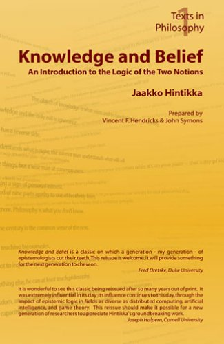 Knowledge and Belief - An Introduction to the Logic of the Two Notions 9781904987086