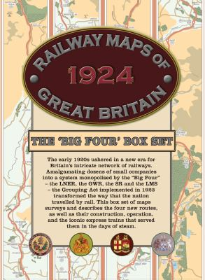 Railway Maps of Great Britain, 1924: The 'Big Four' Box-Set 9781908402318