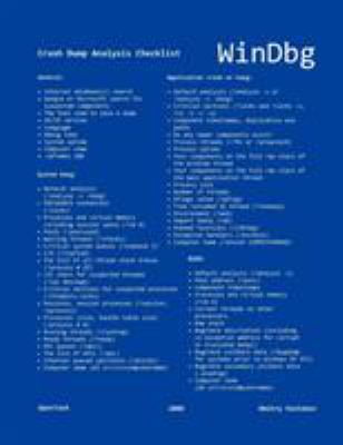 Windbg: A Reference Poster and Learning Cards 9781906717292