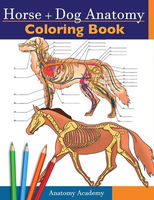 Horse + Dog Anatomy Coloring Book: 2-in-1 Compilation | Incredibly Detailed Self-Test Equine & Canine Anatomy Color workbook | Perfect Gift for Veteri