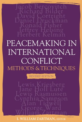 Peacemaking in International Conflict: Methods and Techniques 9781929223664