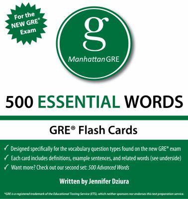 Manhattan GRE 500 Essential Words Flash Cards