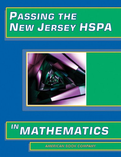 Passing the New Jersey HSPA in Mathematics 9781932410808