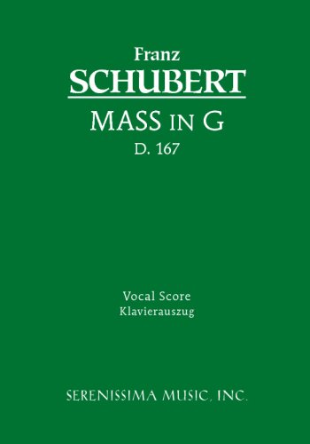 Mass in G, D. 167 - Vocal Score 9781932419146