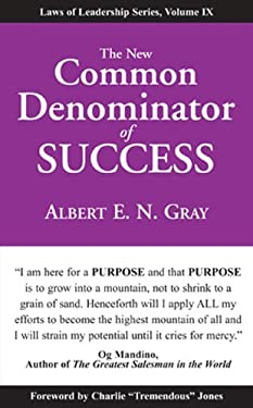 The New Common Denominator of Success 9781933715735