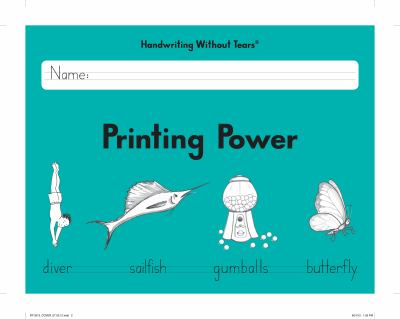 Learning Without Tears - Printing Power Student Workbook, Current Edition - Handwriting Without Tears Series - 2nd Grade Writing Book - Writing and La