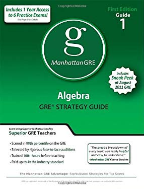 Algebra GRE Preparation Guide 9781935707028