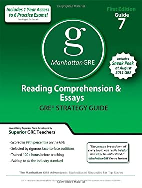 Reading Comprehension & Essays GRE Strategy Guide 9781935707080