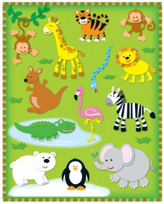 Zoo Shape Stickers 9781936022038