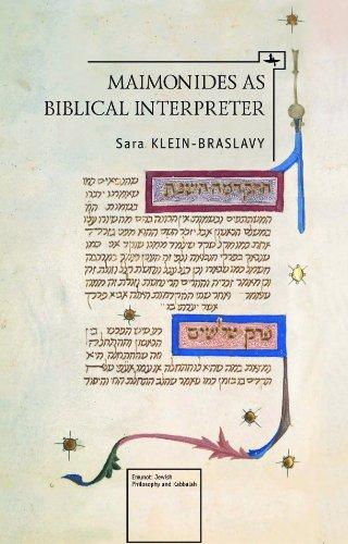 Maimonides as a Biblical Interpreter 9781936235285