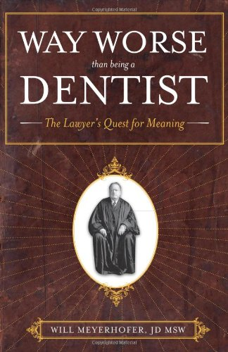 Way Worse Than Being a Dentist: The Lawyer's Quest for Meaning 9781937600228