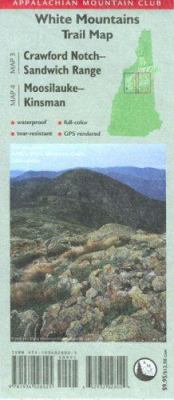 Appalachian Mountain Club: White Mountains Trail Map: Crawford Notch-Sandwich Range/Moosilauke-Kinsman 9781934028025
