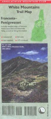 AMC Franconia-Pemigewasset White Mountains Trail Map