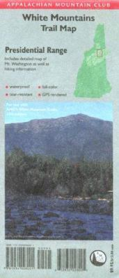 AMC Presidential Range White Mountains Map 9781934028001