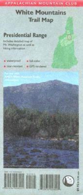 AMC Presidential Range White Mountains Map