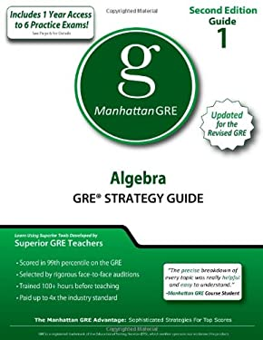 Algebra GRE Strategy Guide 9781935707479