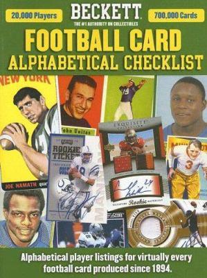 Beckett Football Alphabetical Checklist 9781930692510