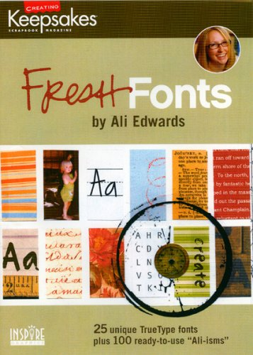 CD Ali Edwards Fresh Fonts 9781933516240