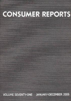 Consumer Reports Bound Volume: January-December 9781933524085