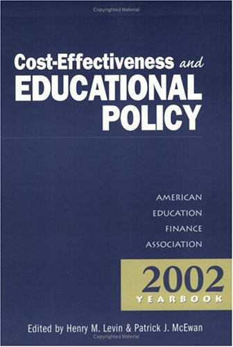 Cost-Effectiveness and Educational Policy 9781930556331