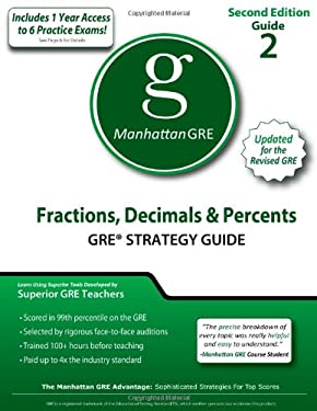 Fractions, Decimals, & Percents GRE Strategy Guide 9781935707486