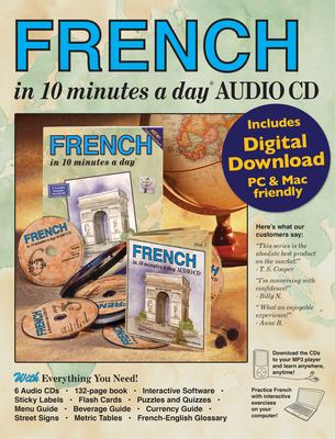 French in 10 Minutes a Day Audio CD 9781931873871