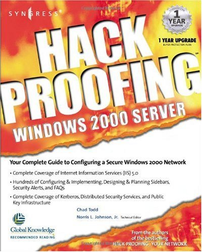 Hack Proofing Windows 2000 Server 9781931836494