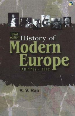 History of Modern Europe Ad 1789-2002 9781932705560