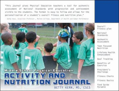 Middle School Physical Education Actiivity and Nutrition Journal 9781932802290
