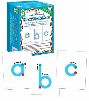 Lowercase Letters Textured Touch and Trace Cards 9781933052601
