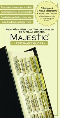 Majestic Pestanas Biblicas Tradicionales de Orilla Dorado