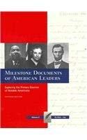Milestone Documents of American Leaders-Volume 2 9781935306016