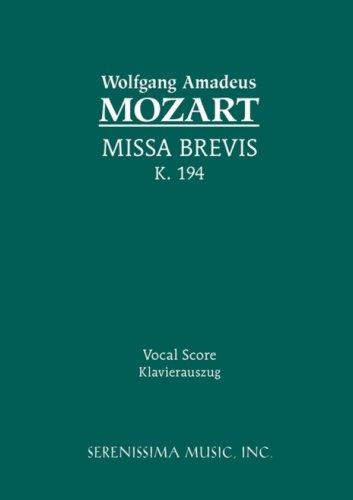 Missa Brevis, K. 194 - Vocal Score 9781932419788