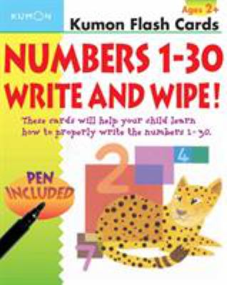 Numbers 1-30 Write & Wipe!: [With Pen] 9781933241081