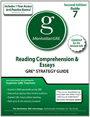 Reading Comprehension & Essays GRE Strategy Guide 9781935707523