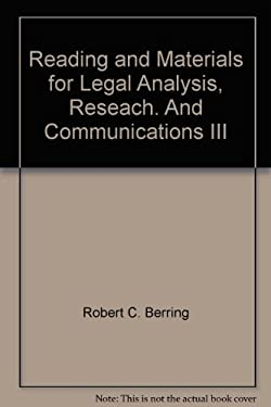 Reading and Materials for Legal Analysis, Reseach. And Communications III