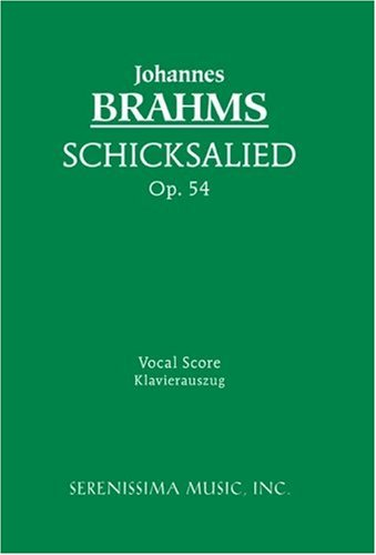Schicksalslied, Op. 54 - Vocal Score 9781932419801