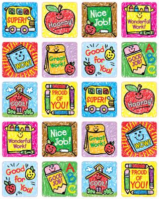 School Days: Kid-Drawn Motivational Stickers 9781936024377