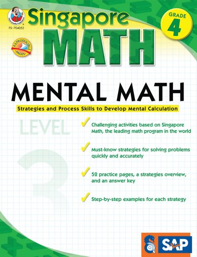 Mental Math, Grade 4/Level 3: Strategies and Process Skills to Develop Mental Calculation