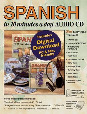Spanish in 10 Minutes a Day Audio CD 9781931873864