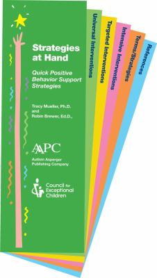 Strategies at Hand: Quick and Handy Strategies for Working Wtih Students on the Autism Spectrum 9781934575185